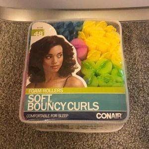 NWOT Conair foam rollers for soft bouncy curls
